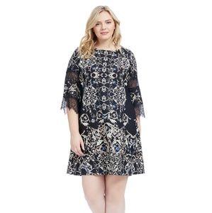 Gabby Skye A line geometric dress